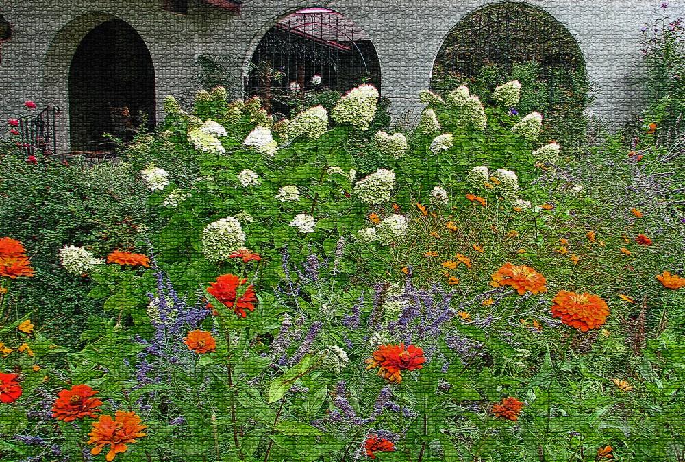 2011 front yard, orange zinnia veggies sept 9th 010_edited-2